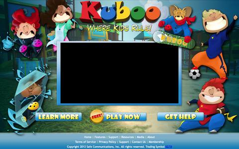 Screenshot of Home Page kuboo.com - Kuboo - Where Kids Rule! » Kuboo - captured Sept. 16, 2014