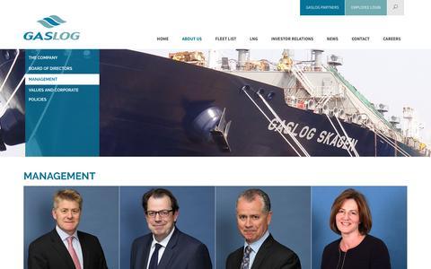 Screenshot of Team Page gaslogltd.com - GasLog Ltd | Our experienced management team - captured Oct. 26, 2016