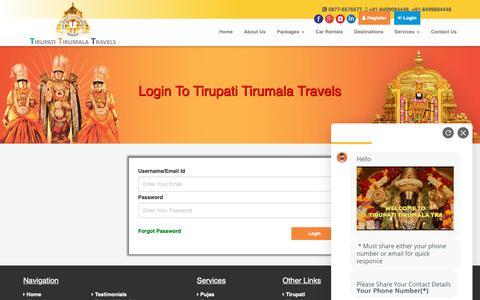 Screenshot of Login Page tirupatitirumalatravels.com - Login - Tirupati Tirumala Travels - captured Oct. 20, 2018