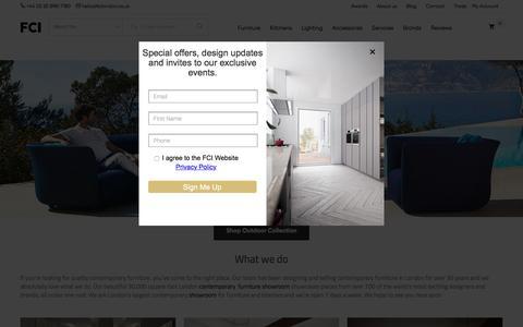 Screenshot of Home Page fcilondon.co.uk - Modern Furniture Store London – FCI Contemporary Designer Furniture - captured July 11, 2019