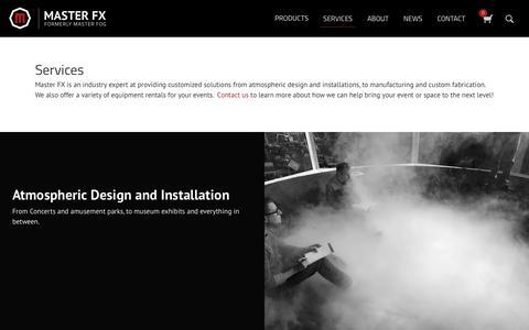 Screenshot of Services Page masterfx.com - Services - Master FX - captured Jan. 6, 2018