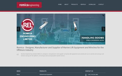 Screenshot of Home Page romica.co.uk - Romica Engineering Limited - captured Oct. 7, 2014