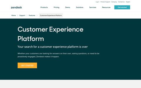Screenshot of Support Page zendesk.com - The Customer Experience Platform | Zendesk - captured Aug. 5, 2018