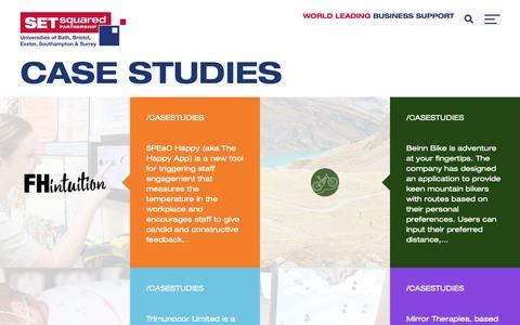 Screenshot of Case Studies Page setsquared.co.uk - Case Studies - SETsquared - captured Dec. 16, 2018