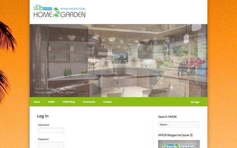 Screenshot of Login Page hhgnet.com - Log In - Hawaii Home & Garden Network - captured Jan. 27, 2016