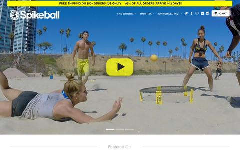 Screenshot of Home Page spikeball.com - Spikeball Store | As Seen On Shark Tank - captured Nov. 3, 2015