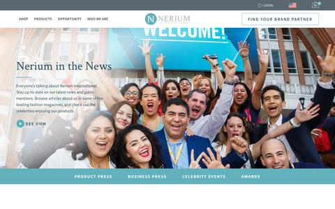 Screenshot of Press Page nerium.com - Nerium In the News - captured Sept. 12, 2018