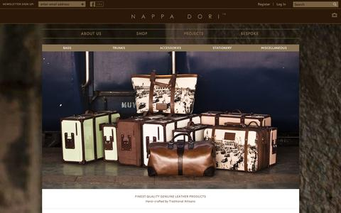 Screenshot of Home Page nappadori.com - Shop | Nappa Dori:Handmade Leather Products Online,Buy Leather Bags - captured Jan. 16, 2016
