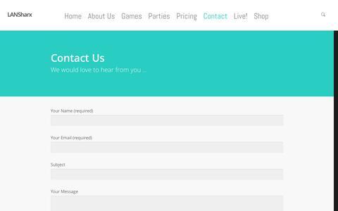 Screenshot of Contact Page lansharx.com - LANSharx|Contact - captured Jan. 26, 2016