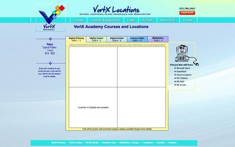 Screenshot of Locations Page vortxacademy.com - VortX Academy - locations-registration - captured Oct. 26, 2014