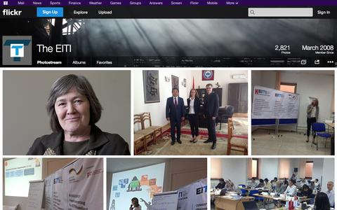 Screenshot of Flickr Page flickr.com - Flickr: The EITI's Photostream - captured Oct. 22, 2014