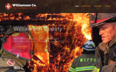 Screenshot of Home Page wcfpd.net - Williamson County Fire Protection District - captured Feb. 12, 2017