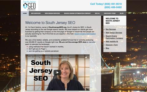 Screenshot of Home Page southjerseyseo.org - South Jersey Search Optimization Experts | NJ SEO Company - captured May 7, 2017