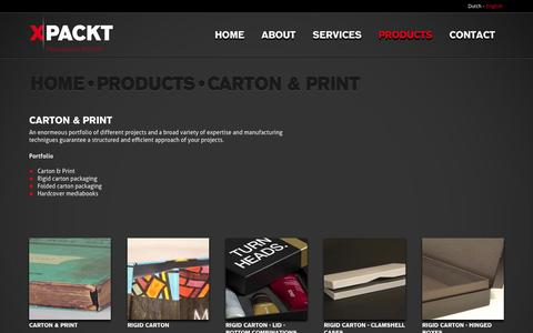 Screenshot of Products Page xpackt.nl - Carton & print - Xpackt - Packaging Power - captured Oct. 25, 2014