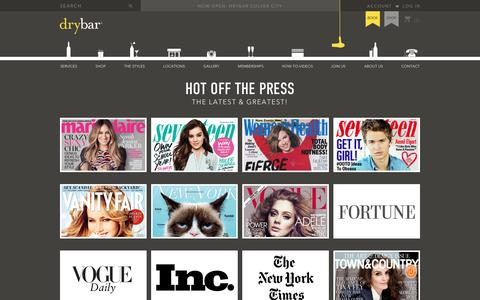 Screenshot of Press Page thedrybar.com - Drybar, The Nation's Premier Blow Out Salon and Blow Dry Bar - captured Sept. 9, 2016