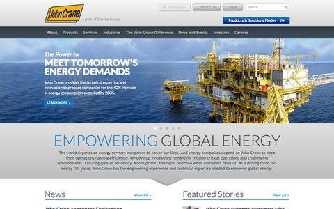 Screenshot of Home Page johncrane.com - Empowering Global Energy Through Engineering Innovation | John Crane - captured Jan. 21, 2015