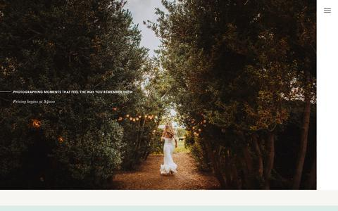 Screenshot of Pricing Page nessakphotography.com - Pricing & FAQ - Nessa K - Washington DC Wedding Photographers - captured Oct. 11, 2018