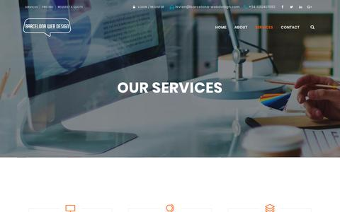 Screenshot of Services Page barcelona-webdesign.com - Full Web Services Agency Barcelona Web Design +34630401592 - captured Aug. 1, 2018