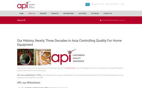 About US - API Quality Control Services