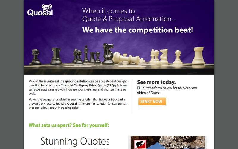 When it comes to Quote & Proposal Automation...We have the competition beat!