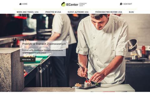 Screenshot of Home Page iecenter.pl - IECenter - Work and Travel USA 2017, kursy językowe za granicą - captured May 26, 2017