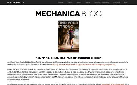 Screenshot of Blog mechanicausa.com - MechanicaUSA Mechanica Blog » MechanicaUSA - captured Oct. 27, 2014