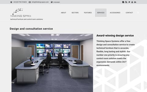 Screenshot of Services Page thinking-space.com - Control Room Design and Consultation   Thinking Space Systems - captured Dec. 23, 2016
