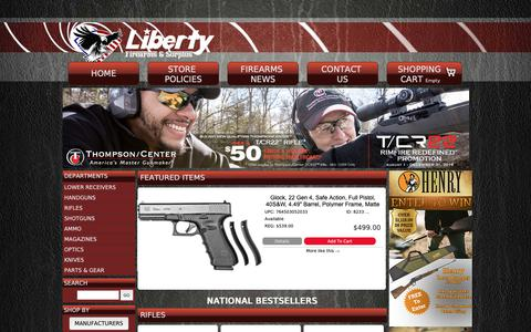 Screenshot of Home Page liberty-firearms.com - Liberty Firearms - captured Sept. 28, 2018