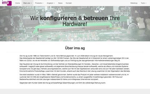 Screenshot of Team Page ima.ch - ima ag, Über uns - captured Nov. 18, 2016