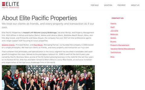 Screenshot of About Page elitepacific.com - About Us. We Treat Our Clients as Friends – Elite Pacific - captured Aug. 12, 2018