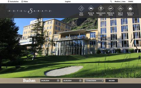 Screenshot of Jobs Page saratz.ch - Hotel Saratz: Jobs - captured Sept. 23, 2014