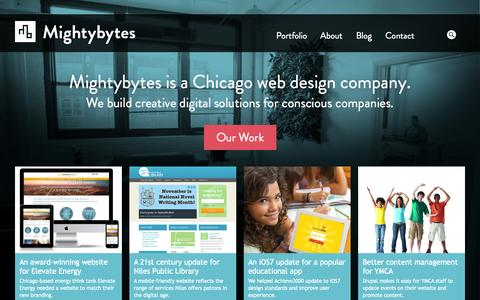 Screenshot of Home Page mightybytes.com - Mightybytes - Web Design, Chicago B Corp - captured Sept. 19, 2014