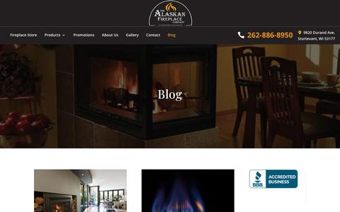 Screenshot of Blog alaskanfireplace.com - Blog - The Alaskan Fireplace Company - captured Oct. 3, 2018