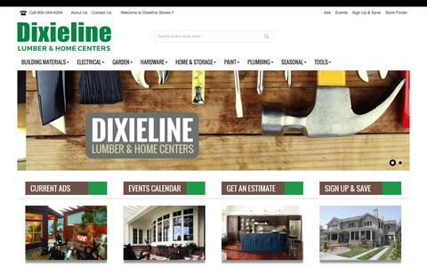Screenshot of Products Page dixieline.com - Dixieline - captured Nov. 24, 2016