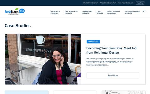 Screenshot of Case Studies Page freshbooks.com - Case Studies - Page 9 of 9 - FreshBooks Blog - captured Dec. 5, 2017