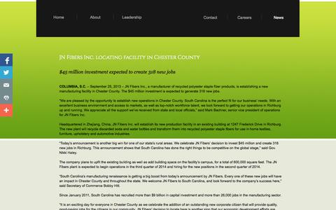 Screenshot of Press Page sunfiberllc.com - News Releases - captured Sept. 30, 2014