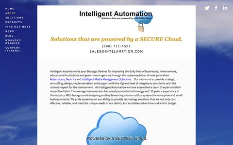 Screenshot of About Page intelamation.com - About — Intelligent Automation - captured Oct. 6, 2014