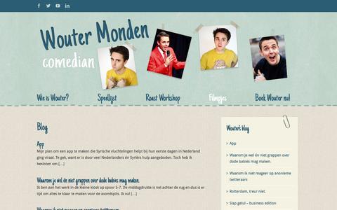 Screenshot of Blog woutermonden.nl - Wouter Monden   –  Blog - captured Aug. 14, 2016