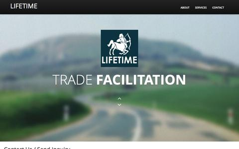 Screenshot of Contact Page lifetimegt.com - Lifetime - Business Support . Trade . Indenting - captured May 19, 2017