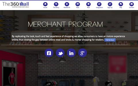 Screenshot of Contact Page the360mall.com - Merchant Program | The 360 Mall - captured Sept. 13, 2014