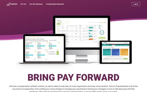Screenshot of Products Page payscale.com - Compensation Software for Every Comp Need | PayScale - captured Dec. 16, 2017