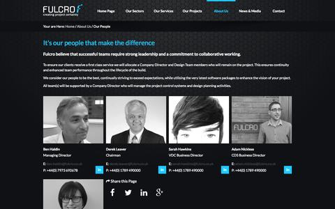 Screenshot of Team Page fulcro.co.uk - Our People - Fulcro - captured Nov. 3, 2014