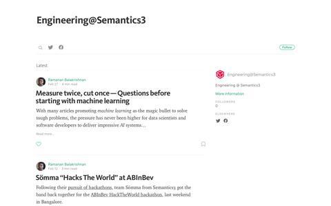 Engineering@Semantics3
