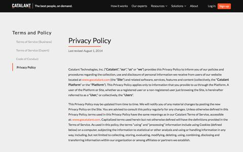 Privacy Policy | Catalant