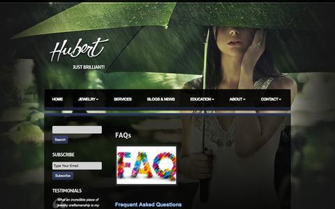Screenshot of FAQ Page hubertgem.com - Gemstones FAQs - captured Oct. 27, 2014