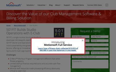 Screenshot of Case Studies Page motionsoft.net - Gym Management Software Case Studies - Motionsoft - captured Feb. 21, 2016