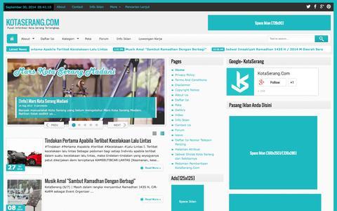Screenshot of Home Page kotaserang.com - KotaSerang.Com - captured Sept. 30, 2014