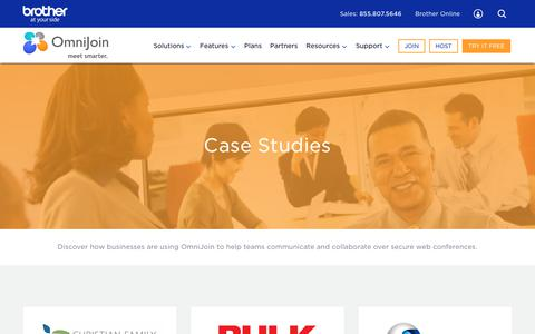 Screenshot of Case Studies Page brothercloud.com - Case Studies - How Business Use of Software   OmniJoin - captured July 12, 2018