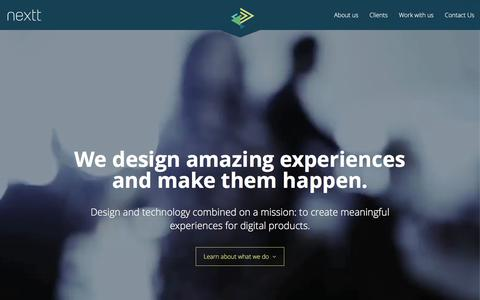 Screenshot of Home Page nextt.com.br - Nextt | Consultancy on user experience and front-end development | Florianópolis/SC - captured Feb. 24, 2016