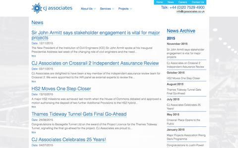 Screenshot of Press Page cjassociates.co.uk - CJ Associates - captured Dec. 5, 2015